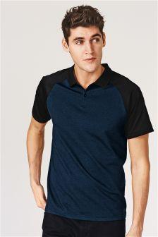 Raglan Jacquard Poloshirt