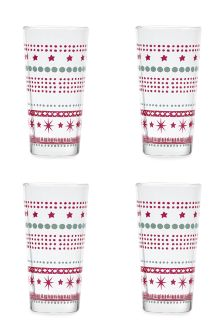 Set Of 4 Star Tumblers