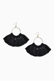 Statement Tassel Hoop Earrings