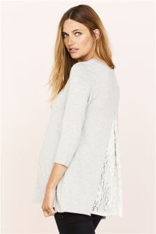 Maternity Lace Back Tee
