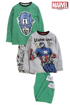 Captain America Jogger Pyjamas Two Pack (3-12yrs)