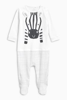 Zebra Sleepsuit (0-18mths)