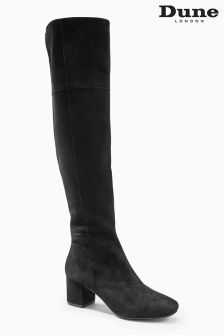 Dune Sanford Black Over The Knee Boot