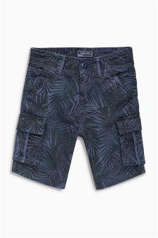 Leaf Print Cargo Shorts (3-16yrs)