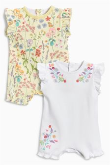 Floral Print Rompers Two Pack (0mths-2yrs)