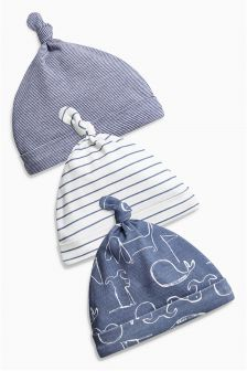 Character Tie Top Hats Three Pack (0-18mths)
