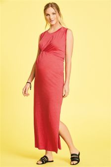 Maternity Knot Maxi Dress