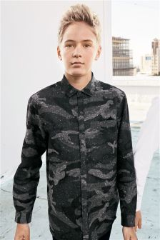 Long Sleeve Camo Shirt (3-16yrs)