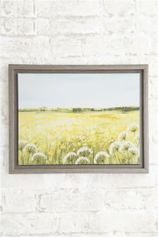 Yellow Meadow Framed Canvas By Janet Bell