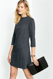 Chevron Jacquard Dress