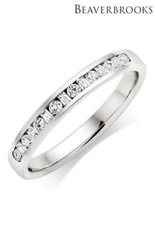 Beaverbrooks Platinum Diamond Wedding Ring