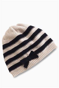 Stripe Beanie Hat (Younger Girls)