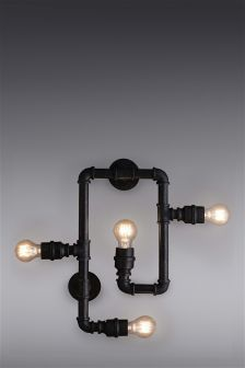 Pipe 4 Light Wall Light