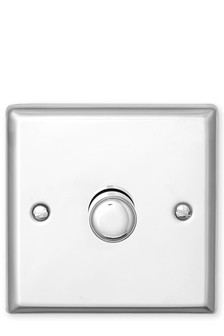 Chrome Single Rotary Dimmer Switch