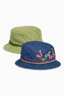 Fishermans Hats Two Pack (Younger Girls)