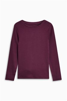 Long Sleeve Rib Top (3-16yrs)