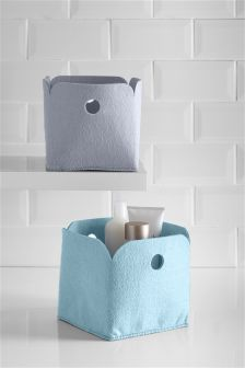 Set Of 2 Felt Storage Boxes Studio Collection By Next