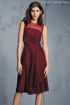 French Connection Berry Winter Ray Chiffon Dress