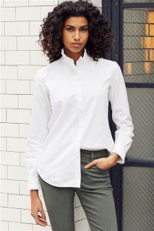 Pleated Collar Shirt