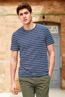 Stripe Linen Blend T-Shirt