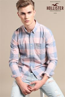 Hollister Pink/Blue Check Shirt