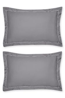 Set Of 2 600 Thread Count Cotton Sateen Pillowcases