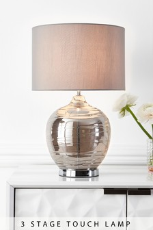 Large Drizzle Touch Table Lamp