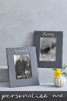 Real Slate Personalised Photo Frame By Loveabode