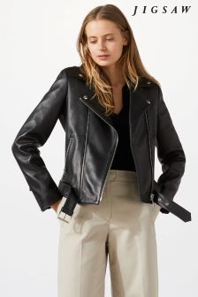 Jigsaw Black Premium Leather Jacket