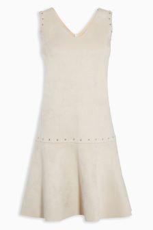 Stud Suedette Dress