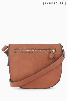 Warehouse Tan Square Casual Cross Body Bag
