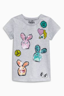 Flippy Sequin Hanazuki T-Shirt (3-16yrs)