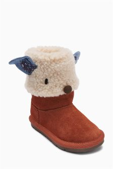 Pull On Knitted Character Boots (Younger Girls)