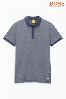 Boss Orange Navy Persys Textured Polo