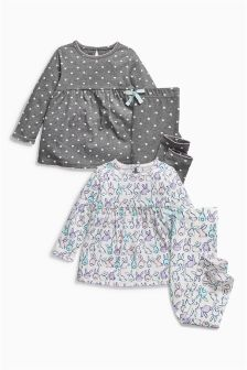 Bunny And Heart Print Legging Pyjamas Two Pack (9mths-8yrs)