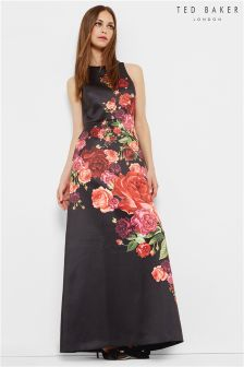 Ted Baker Black Juxtapose Rose Maxi Dress