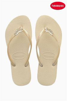 Havaianas® Embellished Slim Lux Flip Flop