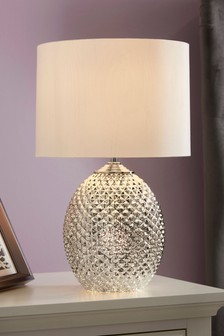 Chrome Glamour Small 2 Light Table Lamp