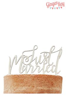 Ginger Ray Just Married Cake Topper