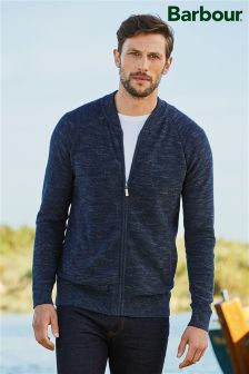 Barbour® Navy Breaker Zip Through Jumper