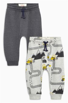 Road Map Printed Joggers Two Pack (3mths-6yrs)