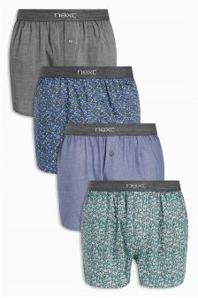 Floral Woven Boxer Four Pack