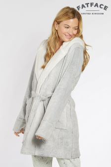 Fat Face Grey Penny Dressing Gown