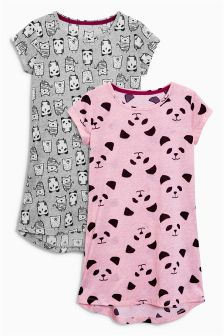 Panda Nighties Two Pack (3-16yrs)