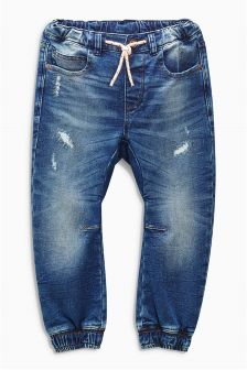 Jersey Look Denim Distressed Joggers (3-16yrs)
