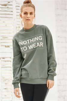 Slogan Sweat Top