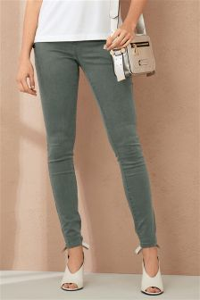 Button Utility Relaxed Skinny Jeans