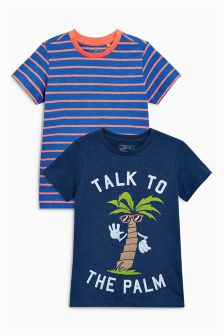 Talk To The Palm T-Shirts Two Pack (3-16yrs)