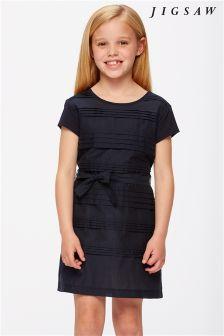 Jigsaw Navy Silk Layer Dress