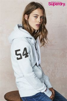 Superdry Grey Track And Field Zip Hoody